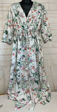 Zaful Women's Plus Size Dress 5X Full Length Floral Dress Button Front NWT!