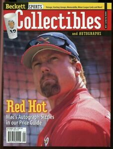 Beckett Sports Collectibles Magazine #89 Sept 1998 Red Hot Mark McGwire Cover VG
