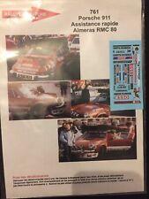 DECALS 1/43 PORSCHE 911 SC ASSISTANCE ALMERAS RALLYE MONTE CARLO 1980 WRC RALLY
