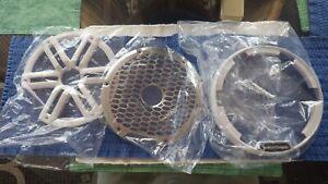 Rockford Fosgate M2-8 Speaker / Sub White Plastic & Stainless Grill