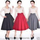 RK101 Full Circle Retro Work Flared Skirt Pin Up Mod Rockabilly 50s Swing Dance