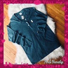 VICTORIA'S SECRET NWT Pink Teal Long Sleeve Pineapple Crew Campus Shirt