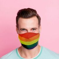 Gesichtsmaske Regenbogenfahne Poly Waschbar Stoffmaske csd gay Pride Party