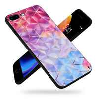 Diamond Glass Back Cover Phone Case Fit Apple iPhone 7 8 Plus X XS Max XR