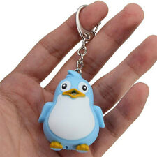 Pig/Penguin Key Chains Dual Led Flashlight Keyring Key Ring Birthday Chic Shan