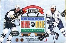 1995 PLAYOFF ONE ON ONE HOCKEY SEALED STARTER 8 DECK BOX NHL