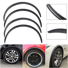 4PCS Carbon Fiber Cover Car Wheel Eyebrow Arch Lips Strip Fender Flare Protector