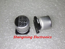 100pcs 470uF 35V SMD chip Aluminum Electrolytic Capacitor 10x10mm