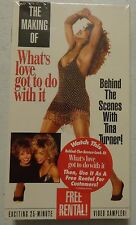 Rare OOP The Making of Whats Love Got to Do With It Tina Turner NEW free SH NIP