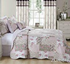 3 Piece Bedspread Cotton Quilt Filled Cotton Patchwork Printed Comforter Zurich