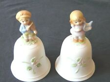 HOMCO BELLS - SET OF 2 - ONE BOY AND ONE GIRL