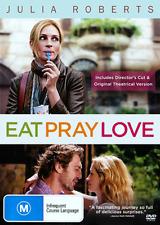 Julia Roberts EAT PRAY LOVE - INSPIRING TRUE STORY DVD (NEW & SEALED)