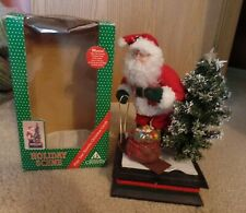 Musical Lights Santa Figurine w/tree and sled by Holiday Scene Holiday Creations