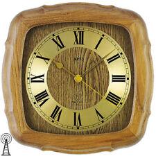 AMS 5932/4 Funkuhr Wanduhr Uhr eiche massiv Mineralglas