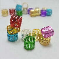 100pcs/set Cuffs Clips Hair Ring Wrap Beads Tube for Box Braids Accessori BJvt