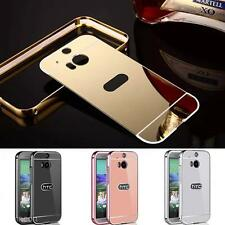 New Luxury Aluminum Metal Mirror Bumper Ultra-Thin Case Cover For HTC One M8