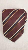 HUGO BOSS Men's Silk Necktie ITALY Luxury Designer STRIPED EUC