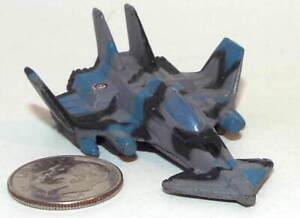 Small Micro Machine Plastic X-3 Raider Jet Fighter Aircraft in Blue/Black/Gray C