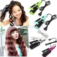 3 Barrel Ceramic Hair Crimper Curler Curling Iron Tong Waving Wand Roller