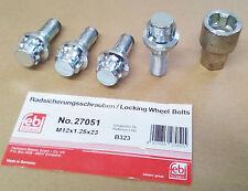 Locking Wheel nut set Peugeot 307 309 405 406 605 Skoda Favorit