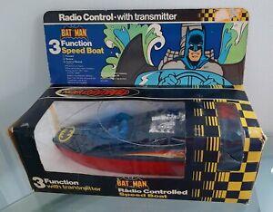 VINTAGE 1980 AHI BAT MAN BAT BOAT RADIO CONTROLLED SPEED BOAT NEW UNUSED IN BOX