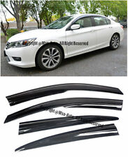 13-Up Honda Accord 4Dr Sedan Tape-On Smoke Tinted Side Window Visors