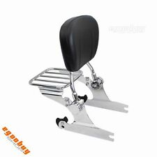 Motorcycle Luggage Rack Backrest Sissy Bar For Harley Softail Fat Boy 2000-2006