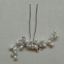 Vintage Wedding Bridal/Bridesmaid Pearl Flower Crystal Hair Pins Clips Side Comb