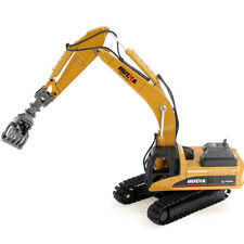 1/50 Scale Diecast Timber Grab Excavator Alloy Engineering Vehicle Toys for Kids