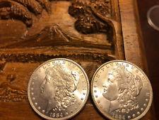 2-1884 Morgan Silver Dollars UNC
