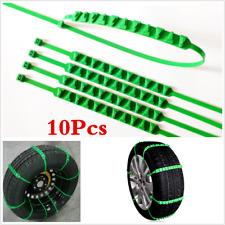 10X Universal Car Tire Chain Emergency Winter Wheel Zip Tie Belt Strap Reusable