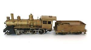 Brass HO Gauge 4-6-0 Steam Locomotive and Tender