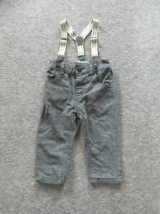 9-12 months Next baby boy grey smart trousers with braces EUC