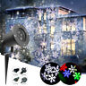 Outdoor LED Laser Snowflake Moving Projector Light Xmas Garden Landscape Lamp