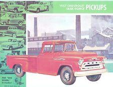 1957 CHEVROLET PICK-UP  TRUCK SALES BROCHURE
