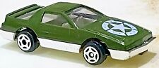 80's Pontiac Firebird Trans Am Olive Green Army 1/64 Scale RARE Unbranded