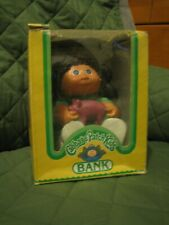 Vintage 1983 Cabbage Patch Kids Bank in box (Girl with piggy bank)