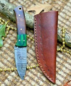 MH KNIVES CUSTOM HANDMADE DAMASCUS STEEL FULL TANG HUNTING/SKINNER KNIFE MH-316C