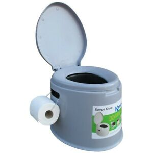 Kampa Khazi Portable Camping Chemical Toilet with Bucket and Lid