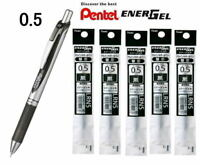 Pentel EnerGel 0.5mm Fine Line Liquid Gel Pen ,Black ink, BLN75Z-A, / Ink refill