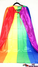 Rainbow Capes Long Party Flag Costume Coat Fancy Dress Up Costume Party 12182