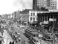 "1920-1930 Main Street, Spokane, Washington Vintage Photo 8.5"" x 11""  Reprint"