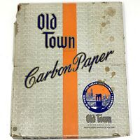 Vtg 1950s OLD TOWN CARBON PAPER High Test Spirit Purple Clean Edge  8.5 x 11