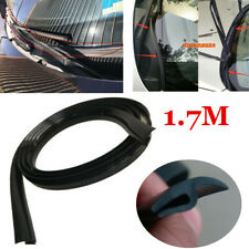 Black Rubber Car Sealing Strip Trim Moulding Front Windshield Universal 1.7M