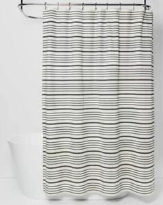 "Threshold Striped Shower Curtain, Black/White, 72"" x 72"""
