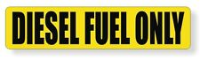 DIESEL FUEL ONLY Vinyl Sticker | Gas Fuel Biodiesel Can Decal Label | USA Made