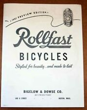 classic 1941 Rollfast Bicycle CATALOG copy antique bike