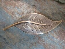 Leaf Antiqued Brass French Clip Hair Barrette Clip made in USA 6034B