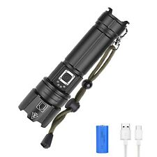 WESLITE LED Torch Rechargeable, 6000 Lumens XHP70.2 Torches LED Super Bright ...