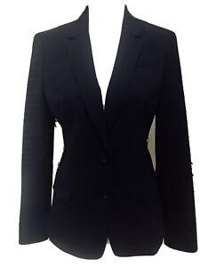 Banana Republic Wool Blazer Black Size 10 Two Button Lined Lightweight NWT $159